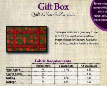 Gift Box Placemat