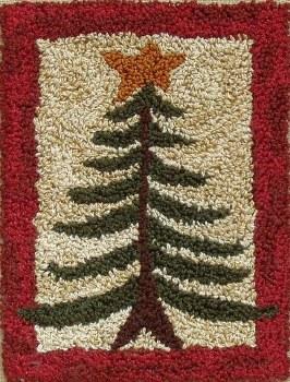Pine Tree Punch Needle Emb Kit