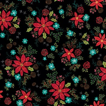 Snowed In Floral Black