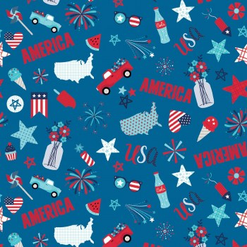 Fireworks and Freedom Main Blue