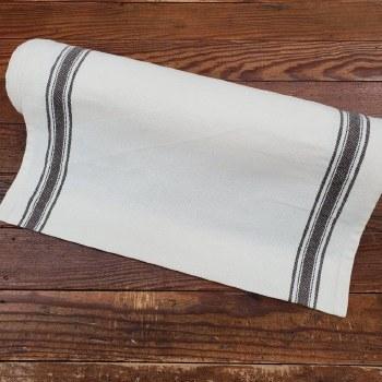 "Toweling 18"" Buttermilk Black"