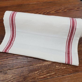 "Toweling 18"" Buttermilk Red"