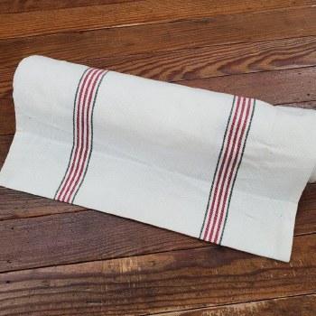 """Toweling 18"""" Buttermilk RedGrn"""