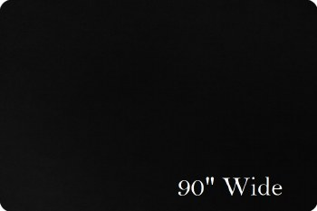 Cuddle Solid Black 90 Inch