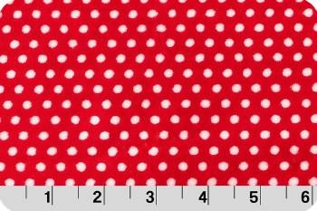 Cuddle Swiss Dot Scarlet