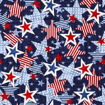 Truckin' in the USA Large Star Navy