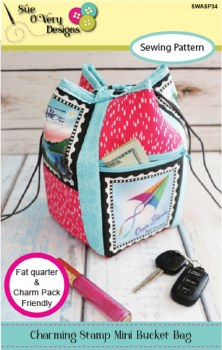 Charming Stamp Mini Bucket Bag