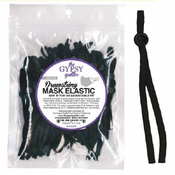 Drawstring Mask Elastic Black
