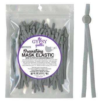 Drawstring Mask Elastic Grey