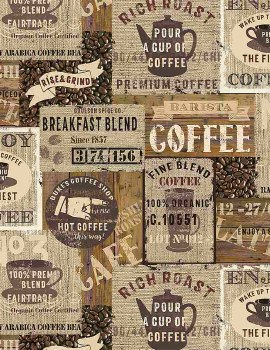 Rise and Grind Labels Brown