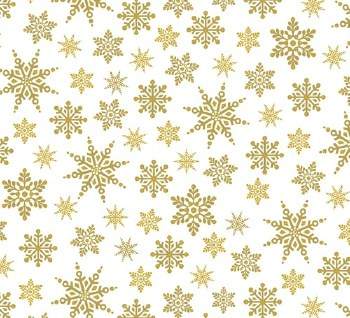 Holiday Village Snowflakes Gold