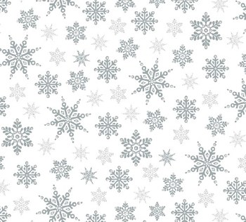 Holiday Village Snowflakes Silver