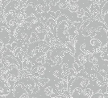 Holiday Village Scroll Silver