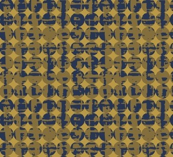 Pottery Circles Gold Blue