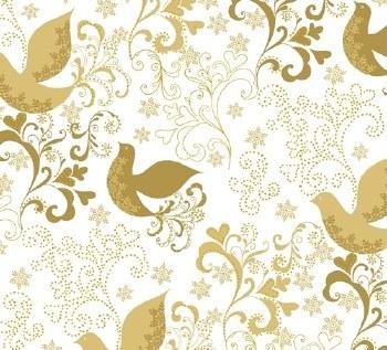 Holiday Village Birds Gold