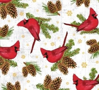 Comfort and Joy Cardinals Snow