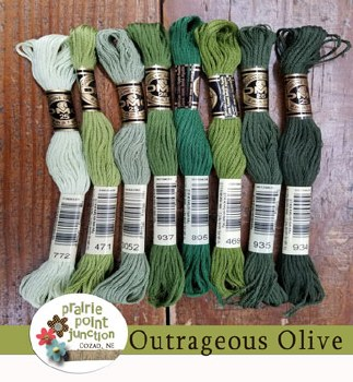 Outrageous Olive Floss Pack