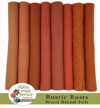 Rustic Rusts Wool Felt Bundle