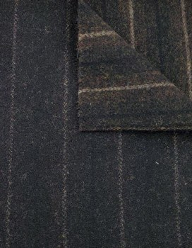 Wool Black Jack Stripe Yardage