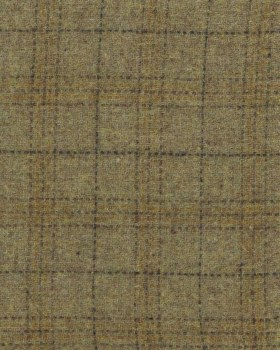 Wool Maize Plaid Yardage