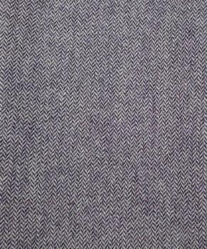 "Wool 9"" x 28"" Purple/Natural Herringbone"