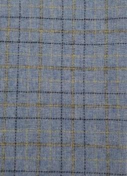 "Wool 9"" x 28"" Lt Blue Windowpane"