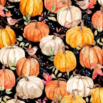Autumn Day Packed Pumpkins Bla