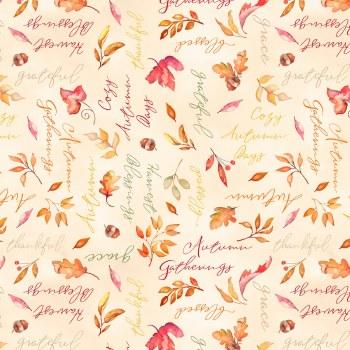Autumn Day Words Tan