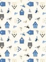 Welcome Winter Birdhouses Wht