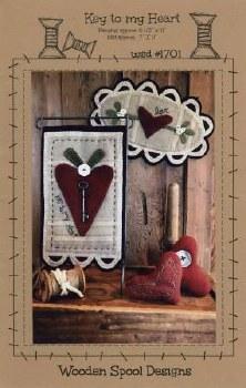 Key to My Heart Wooden Spool