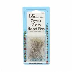 Pins Collins Glass Head