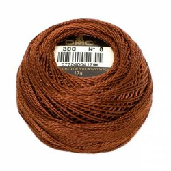 DMC Pearl Cotton 300 Mahogany