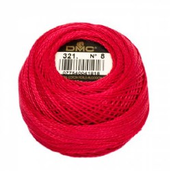 DMC Pearl Cotton 321 Red