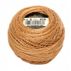 DMC Pearl Cotton 436 Tan