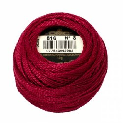 DMC Pearl Cotton 816 Garnet