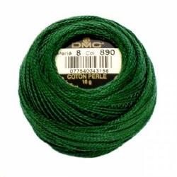 DMC Pearl Cotton 890 Dk Green