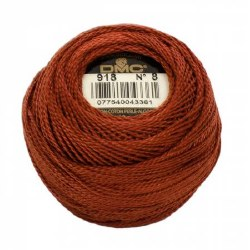 DMC Pearl Cotton 918 Copper