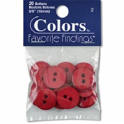 Buttons 5/8 Red
