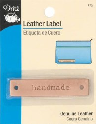 Leather Label Handmade