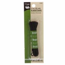 "Elastic Black Braid 1/8"""