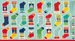 Novelty Christmas Stocking Panel