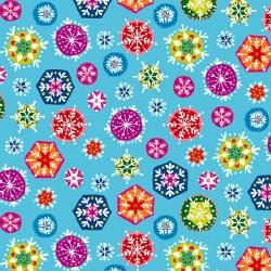 Joyeux Snowflakes Lt Blue