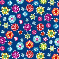 Joyeux Snowflakes Dk Blue