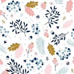 Forest Talk Branches Cream Blu