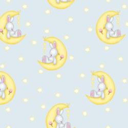 Comfy Flannel Bunny Lt Gray