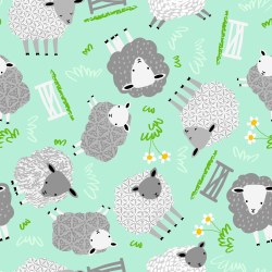 Comfy Flannel Sheep Mint