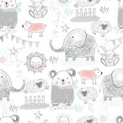 Comfy Flannel Elephant Bear Wt