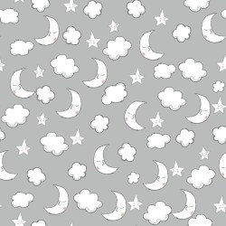 Comfy Flannel Moon Cloud Gray