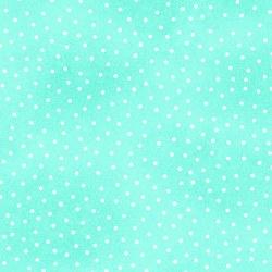 Comfy Flannel Dots Aqua