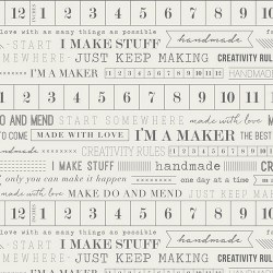 I'm A Maker Tape Measure Print